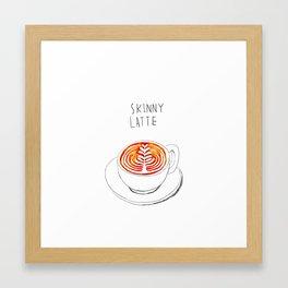 Skinny Latte Framed Art Print