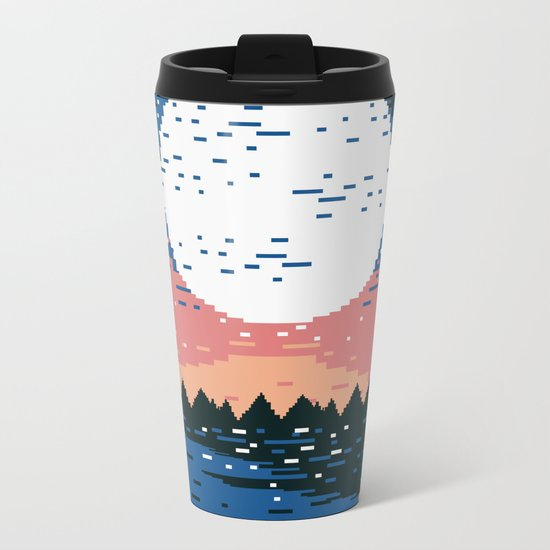 Starry Pixel Night Metal Travel Mug