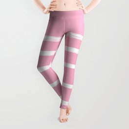 Pink & White Abstract Leggings