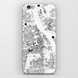 Warszawa Map Schwarzplan Only Buildings iPhone Skin