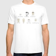 Weekly Dose of Coffee Mens Fitted Tee White MEDIUM