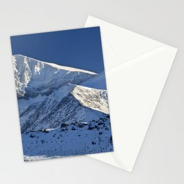 Snowy mountains. 3.478 meters Stationery Cards