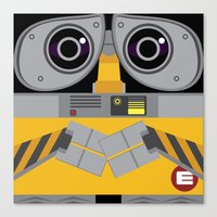 wall e Canvas Prints featuring Wall-E by Sam Del Valle