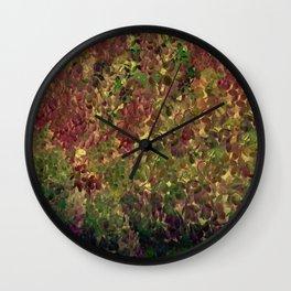 Floral Fantasy Fall Abstract Wall Clock