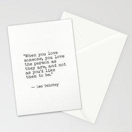 Leo Tolstoy...Love Stationery Cards