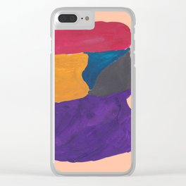30   190330 Abstract Shapes Painting Clear iPhone Case