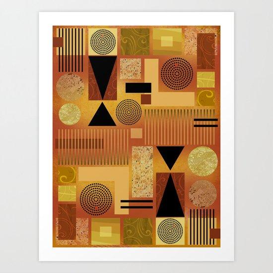 GEO-1 | yellow gold Art Print