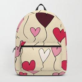 Cute Heart Balloon Pearl Purple #Valentines Backpack