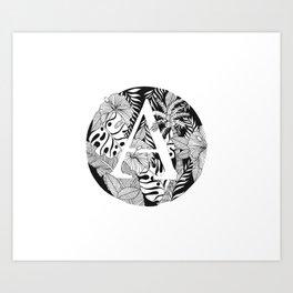 Tropical A Art Print