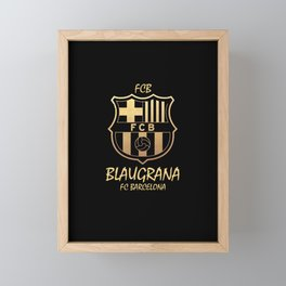 Slogan: Barcelona Framed Mini Art Print