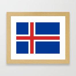Flag of Iceland - High Quality Image Framed Art Print