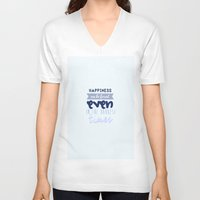 harry potter V-neck T-shirts featuring Harry Potter Quote by Sümeyra Altunok