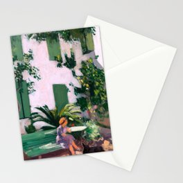 Albert Marquet - Le Repos devant la Maison - Rest in front of the House Stationery Cards