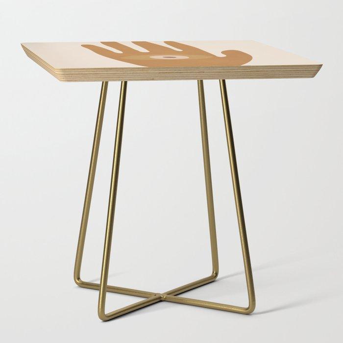 Hamsa Hand Side Table