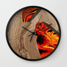 LAVA WOOD Wall Clock