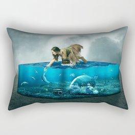 The lost Aquarium Rectangular Pillow