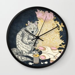 Big Bad Wolf Only Needed a Needle Wall Clock