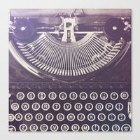 typewriter Canvas Prints featuring Typewriter by Jessica Torres Photography