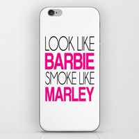 barbie iPhone & iPod Skins featuring Barbie by I Love Decor