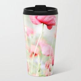 Poppy pastels Metal Travel Mug