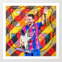messi Art Prints featuring Messi by Cr7izbest