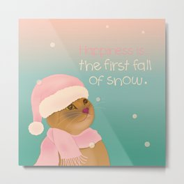 Dressing up for the snow Metal Print