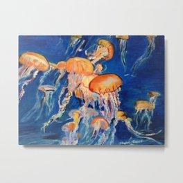 Jellyfish of the Deep Metal Print