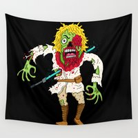 luke hemmings Wall Tapestries featuring Luke the Walker by Chris Piascik