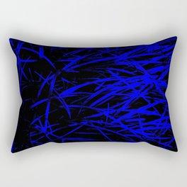 Blue Blades Rectangular Pillow