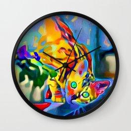 Chessy Cat Wall Clock