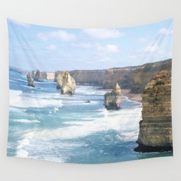 Australia Photography - The Twelve Apostles Under The Blue Sky Wall Tapestry