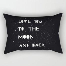Love you to the moon Rectangular Pillow