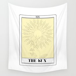 the sun tarot card Wall Tapestry