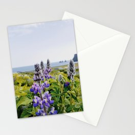 Lupines by the Sea in Vik Stationery Cards