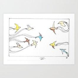 Swoop - Birds Art Print