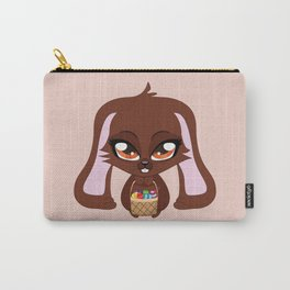 Brown Easter Bunny Carry-All Pouch