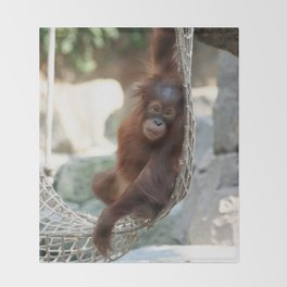 Orang Utan 2014-1001 Throw Blanket