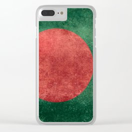 Bangladeshi Flag in retro grunge Clear iPhone Case