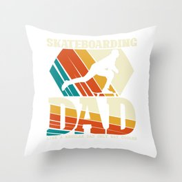 Skateboarding Dad Skateboarders Father's Day Throw Pillow