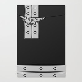 Black Star Outfit Canvas Print