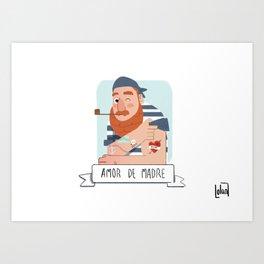 Mum's love Art Print