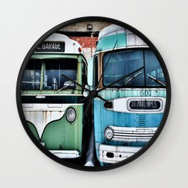 Old Buses 2 Wall Clock