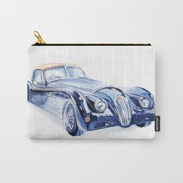 Watercolor Retro car Carry-All Pouch