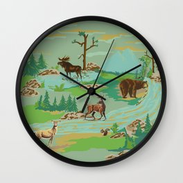 Paint by Number Woodland Animals Wall Clock