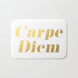 Carpe Diem (Gold) Bath Mat