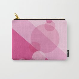 Pink Spheres Abstract Carry-All Pouch