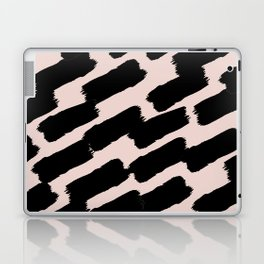 Brushstrokes - Pink & Black Laptop & iPad Skin