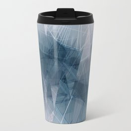Ameythist Crystal Inspired Modern Abstract Travel Mug