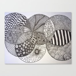 Zentangle Circles Canvas Print