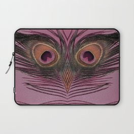 Rose Peacock Feather Face Laptop Sleeve